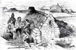 Destitution in Ireland – Failure of the Potato Crop. Illustration from the Pictorial Times 22nd August 1846 – Courtesy of the National Museum, Ireland